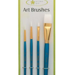 CARDED WHITE TAKLON ASSORTED BRUSH SET - 4PCS