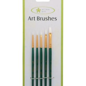 CARDED WHITE TAKLON ASSORTED BRUSH SET