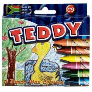Dala Teddy Standard Wax Crayons 12