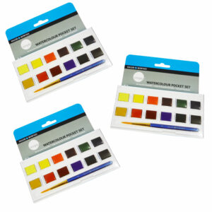 Daler-Rowney Simply Watercolour Pocket Set 12 Half Pan Box