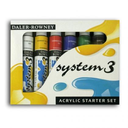 Daler-Rowney System 3 Acrylic Starter Set