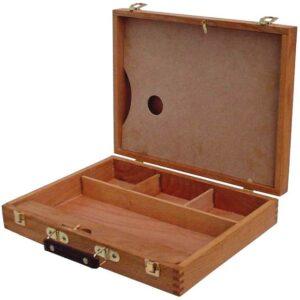 Large wooden artbox 30 x 40.6 x 7.6 cm