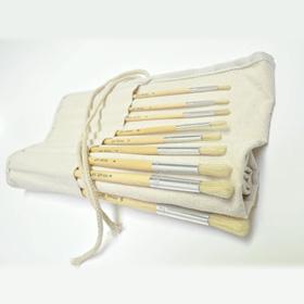 Prime Art Brush Set in Canvas Brush Holder 18 Pc