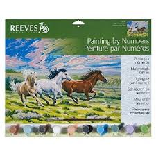 REEVES PAINTING BY NUMBER GALLOPING HORSES