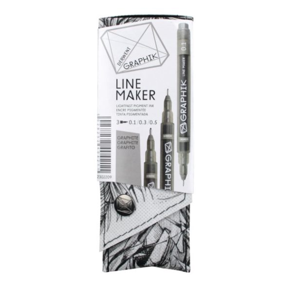 Derwent Graphik Line Maker Graphite Pack of 3