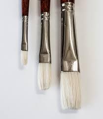 Daler-Rowney Georgian Hog Hair Brushes Long Flat 2