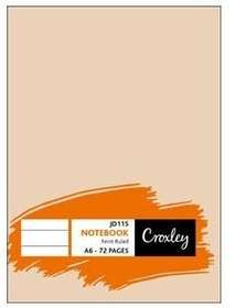 CROXLEY A6 NOTE BOOK 72 PAGES
