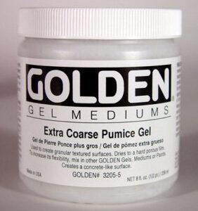 GOLDEN ACRYLIC EXTRA COARSE PUMICE GEL- 236ML-GEL