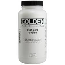 GOLDEN ACRYLIC FLUID MATTE MEDIUM- 236ML-MED