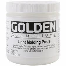 GOLDEN ACRYLIC LIGHT MODELING PASTE- 236ML- GEL