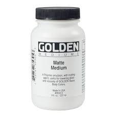 GOLDEN ACRYLIC MATTE MEDIUM- 236ML- MED