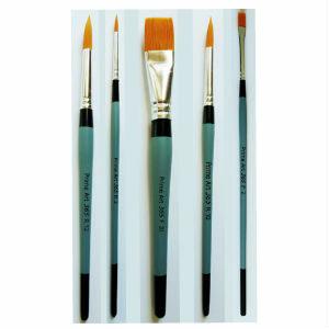 Prime Art 365 Golden Taklon Brushes Flat