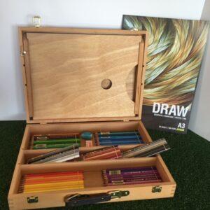FABER-CASTELL WOODEN ART BOX GIFT SET OF 120 POLYCHROMOS PENCILS