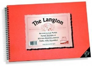 "Daler-Rowney Langton Watercolour Pad 425g 12x9"" CP"