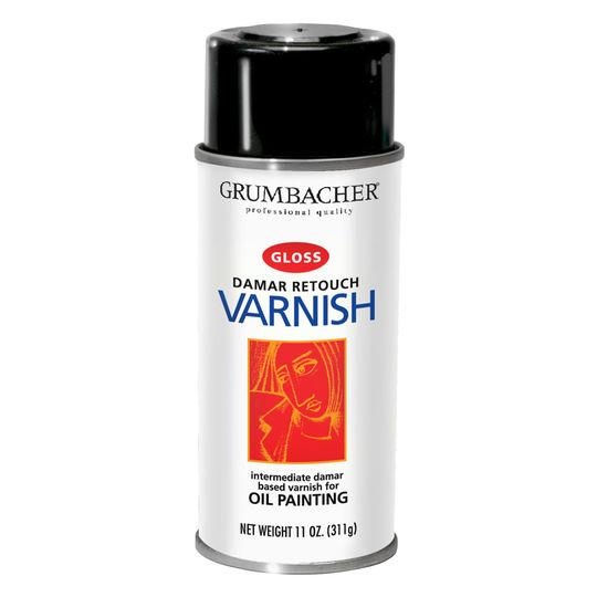 Grumbacher Damar Retouch Varnish for oil Painting Gloss 11 OZ