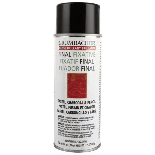Grumbacher Final Fixative Matte for Charcoal, Pastel & Pencil 11.75 oz (333g)