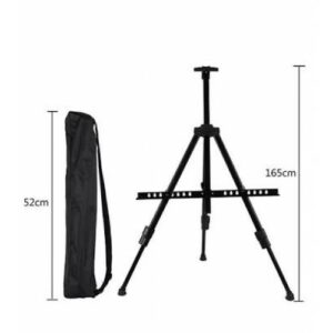 Aluminium  Easel in Nylon Bag - Black