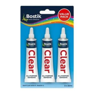 BOSTIK CLEAR GLUE VALUE PACK 3X25ML