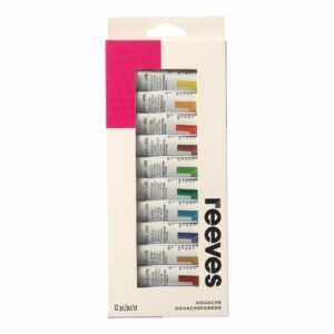 Reeves Gouache 12 x 10ml Tubes