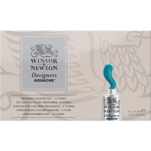 Winsor & Newton Designer Gouache 6 x 14ml Primary Set