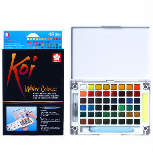 Sakura Koi Watercolour Pocket Field Sketch Box 48