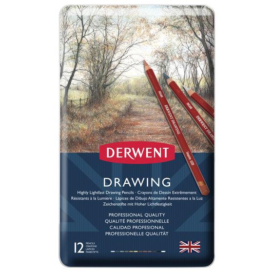 DERWENT DRAWING PENCIL SET OF 12