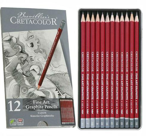 CRETACOLOR  FINE ART GRAPHITE PENCILS 12 TIN