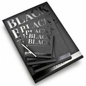 FABRIANO BLACK BLACK PAD 300GSM A4