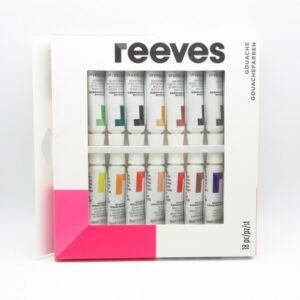 Reeves Gouache 18 x 10ml Tubes
