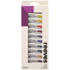 Reeves Oil Colour Set 12 x 12ml