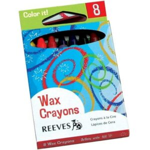 REEVES WAX CRAYONS 8
