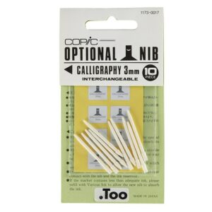 COPIC OPTIONAL NIB CALLIGRAPHY 3MM 10PC