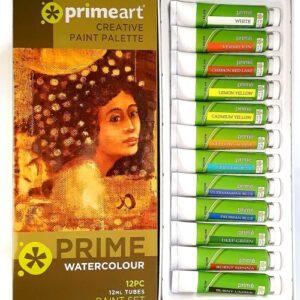 PRIME ART WATERCOLOUR SET OF 12 x 12ML